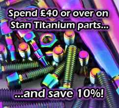 New Stan titanium bolts and accessories now in stock