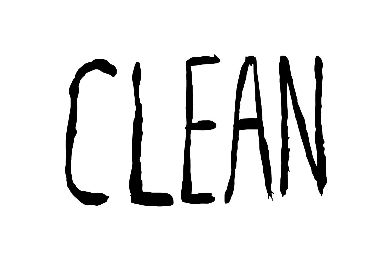 Clean Zine Vinyl Sticker (single)