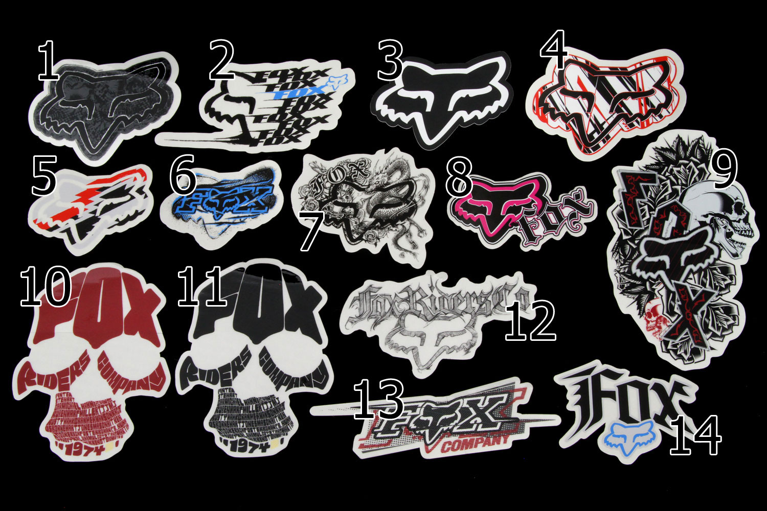 Fox Sticker (32 styles available!)