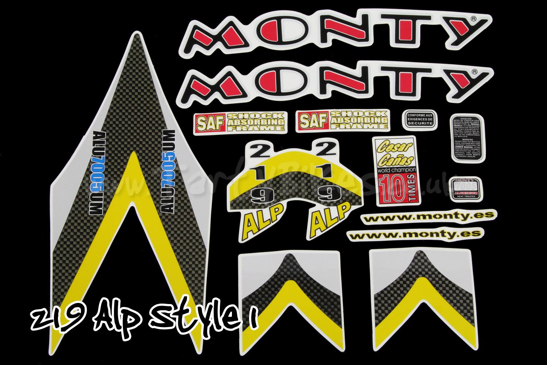 Monty Frame Sticker Kit