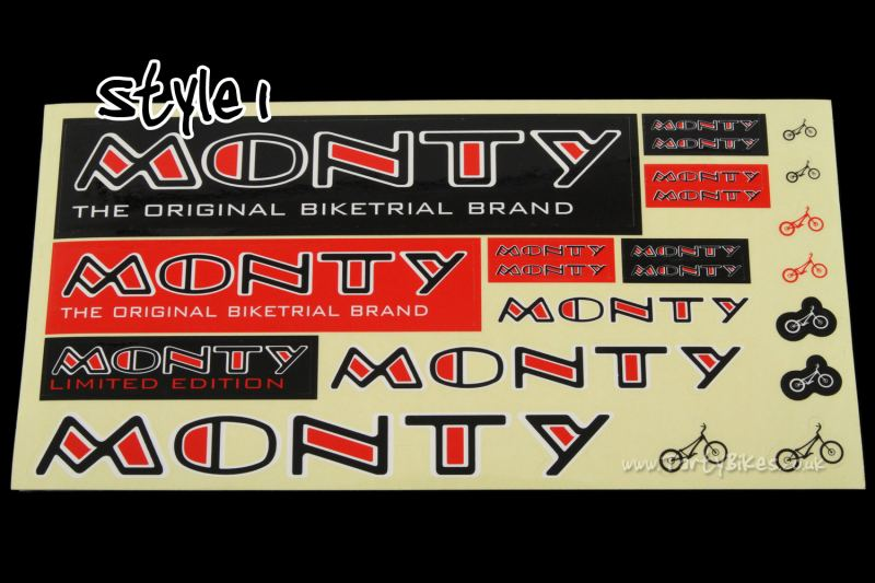 Monty Mixed Sticker Kit Sheet