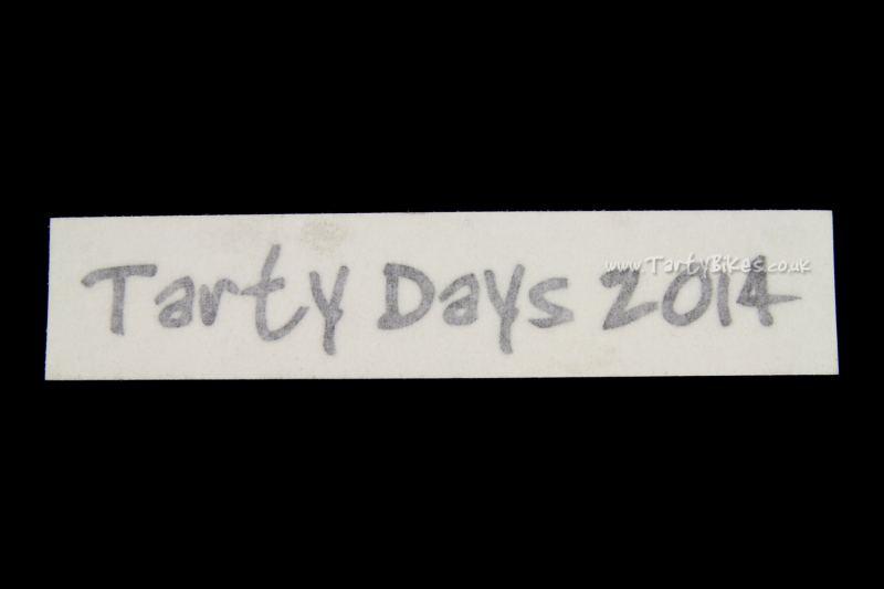 Tarty Days 2014 Vinyl Sticker (115 x 20mm)